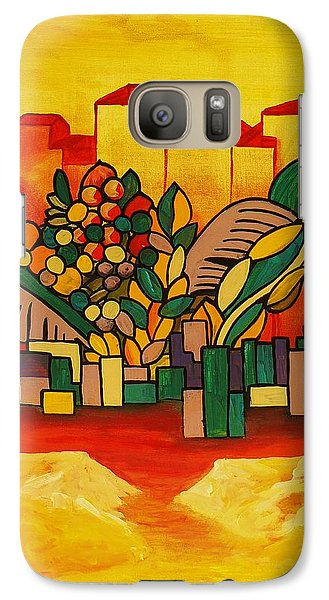 Galaxy Case featuring the painting Global Warning by Barbara St Jean
