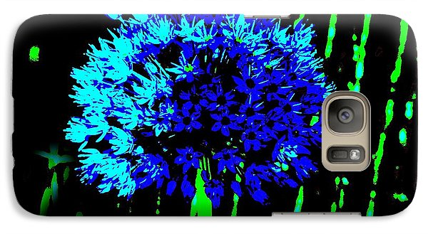 Galaxy Case featuring the photograph Globe Allium  by Sally Simon