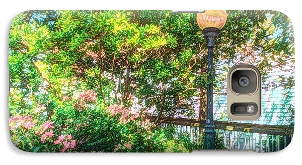 Galaxy Case featuring the photograph Globe Lamp Post by Becky Lupe