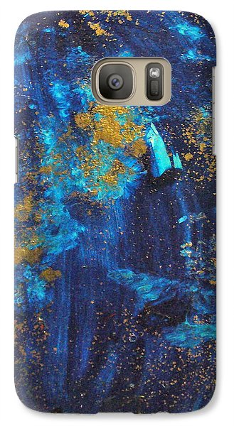 Galaxy Case featuring the painting Gloria by Mary Sullivan