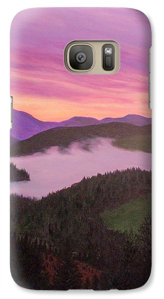 Galaxy Case featuring the painting Glorious Sunset by Janet Greer Sammons