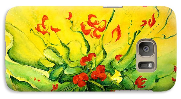 Galaxy Case featuring the painting Glorious by Teresa Wegrzyn