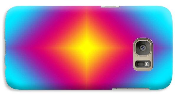 Galaxy Case featuring the digital art Glowing Beauty On Blue by Karen Nicholson