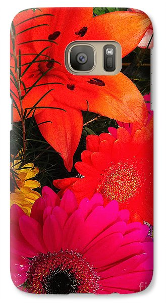 Galaxy Case featuring the photograph Glowing Bright by Meghan at FireBonnet Art