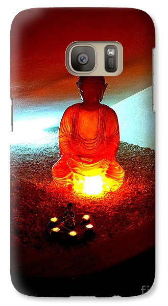 Galaxy Case featuring the photograph Glowing Buddha by Linda Prewer