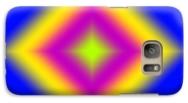 Galaxy Case featuring the digital art Glowing Diamond by Karen Nicholson