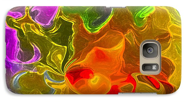 Galaxy Case featuring the digital art Glowing Edges  by Gayle Price Thomas