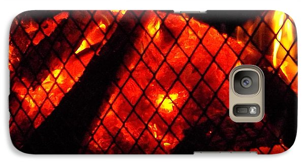 Galaxy Case featuring the photograph Glowing Embers by Darren Robinson