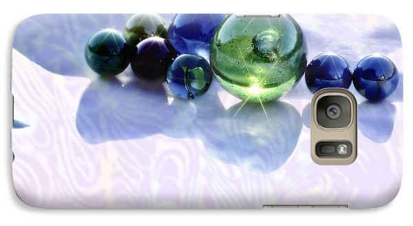 Galaxy Case featuring the photograph Glowing Marbles by Cynthia Lagoudakis