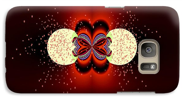 Galaxy Case featuring the digital art Glowing by Melissa Messick