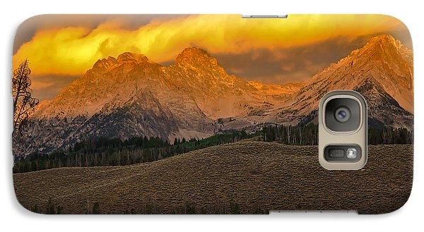 Glowing Sawtooth Mountains Galaxy S7 Case