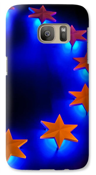 Galaxy Case featuring the photograph Glowing Stars Of Freedom by Dawn Romine