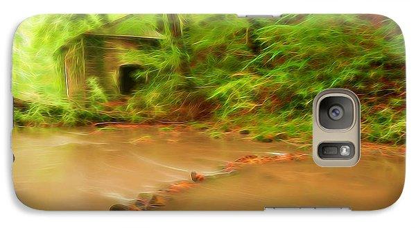 Galaxy Case featuring the photograph Glowing Stream by Maciej Markiewicz