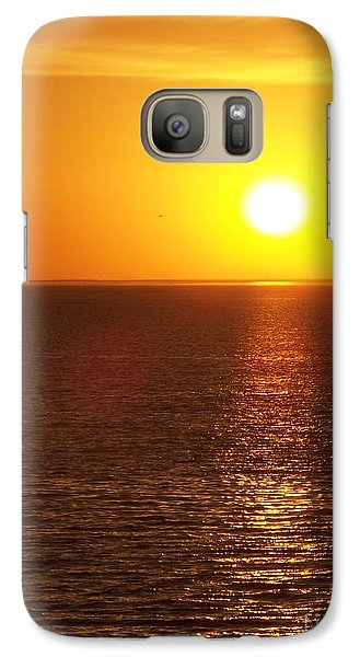 Galaxy Case featuring the photograph Glowing Sunset by Brigitte Emme