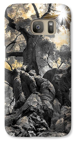 Galaxy Case featuring the photograph Gnarled Maple by Steve Zimic