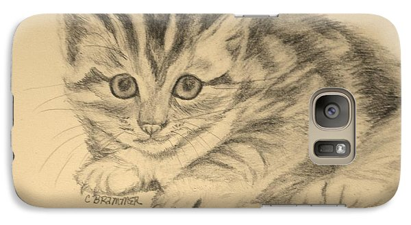 Galaxy Case featuring the drawing Go Get'im Tiger by Christy Saunders Church