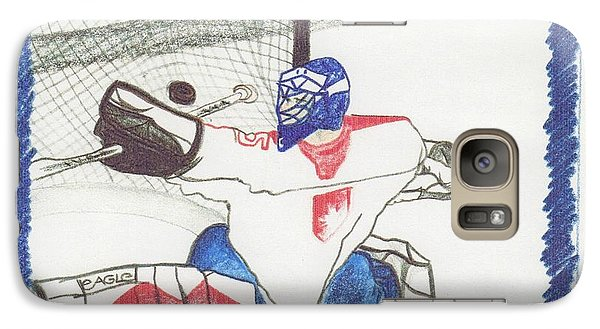 Galaxy Case featuring the drawing Goalie By Jrr by First Star Art