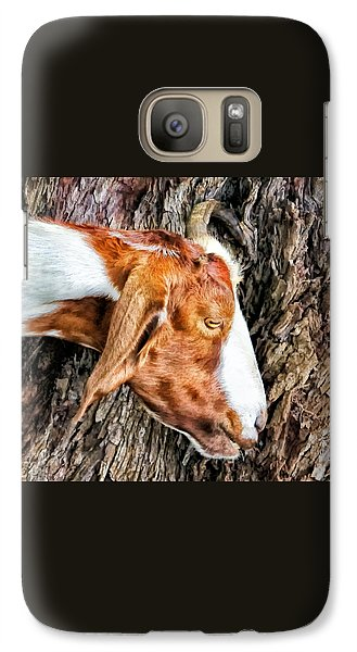 Galaxy Case featuring the photograph Goat 3 by Dawn Eshelman
