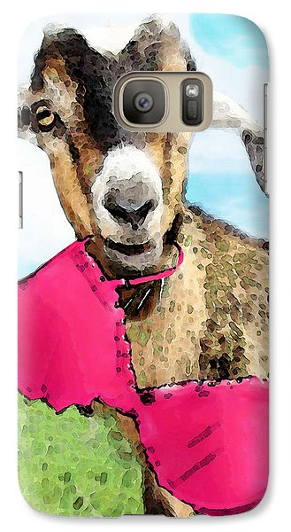 Goat Art - Oh You're Home Galaxy Case by Sharon Cummings