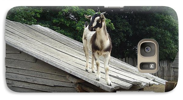 Galaxy Case featuring the photograph Goat On The Roof by Kerri Mortenson