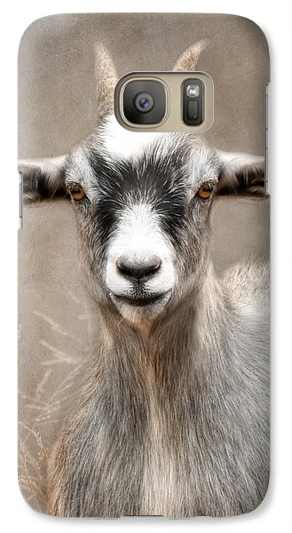 Goat Portrait Galaxy Case by Lori Deiter