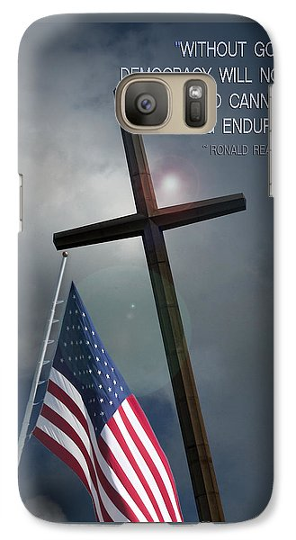 Galaxy Case featuring the photograph God And Democracy by Bob Pardue