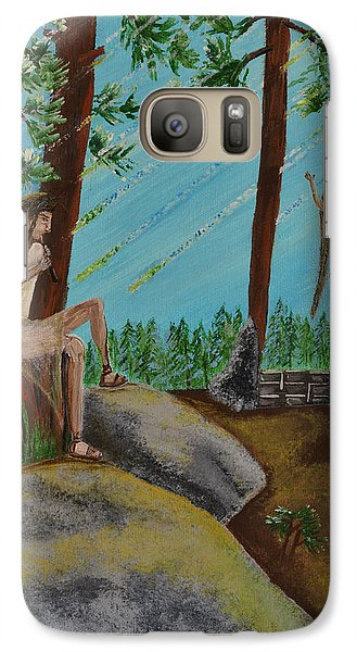 Galaxy Case featuring the painting God Calls His Angels by Cassie Sears
