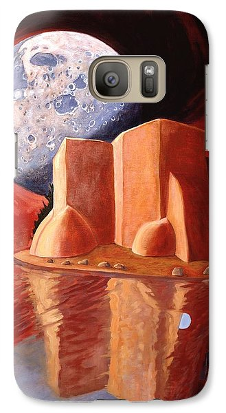 Galaxy Case featuring the painting God Is In The Moon by Art James West