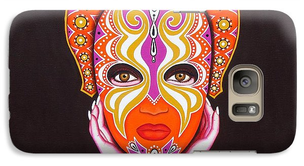 Galaxy Case featuring the painting Goddess In Pink by Joseph Sonday
