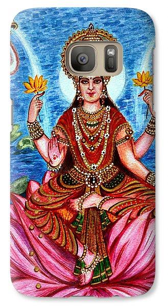 Galaxy Case featuring the painting Goddess Lakshmi by Harsh Malik