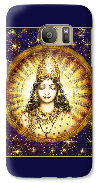 Galaxy Case featuring the mixed media Goddess Of Stars by Ananda Vdovic