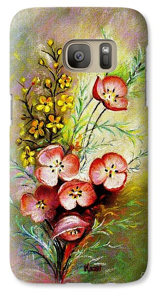 Galaxy Case featuring the pastel God's Smile by Hazel Holland