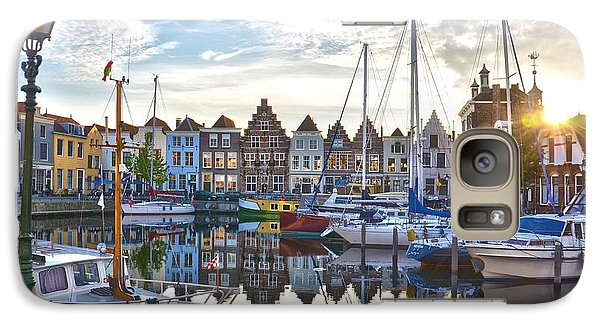Galaxy Case featuring the photograph Goes Harbour by Frans Blok