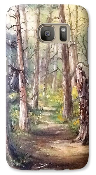 Galaxy Case featuring the painting Going For A Walk by Megan Walsh
