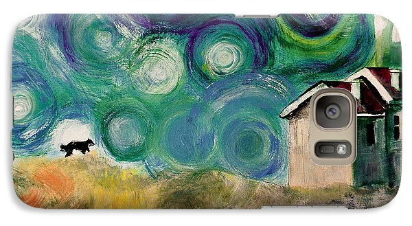Galaxy Case featuring the painting Going Home by Maja Sokolowska