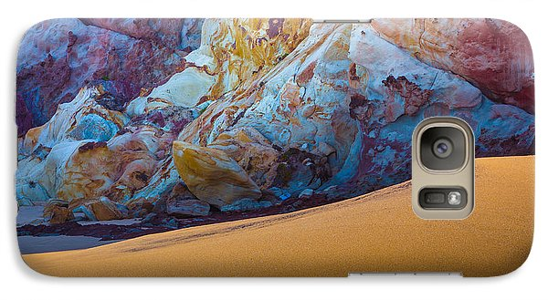 Galaxy Case featuring the photograph Gold And Blue by Edgar Laureano
