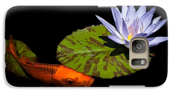 Galaxy Case featuring the photograph Gold And Blue by Priya Ghose