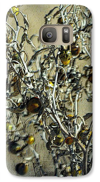 Galaxy Case featuring the photograph Gold And Gray - Silver Nightshade by Nadalyn Larsen