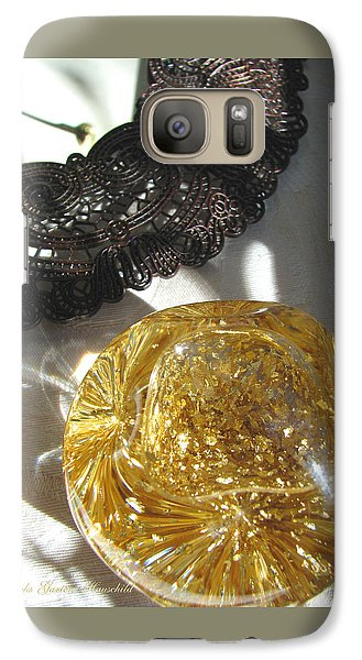 Galaxy Case featuring the photograph Gold Ball And Frame by Brooks Garten Hauschild