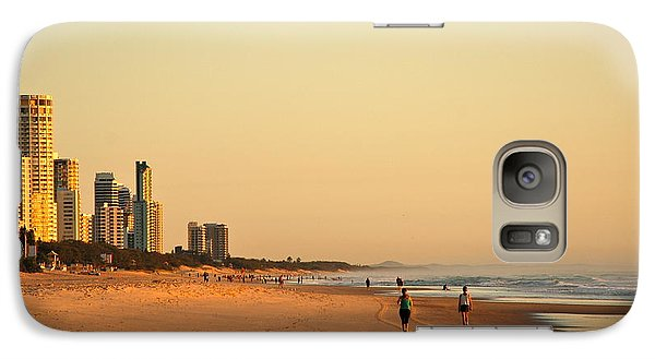 Galaxy Case featuring the photograph Gold Coast Beach by Eric Tressler