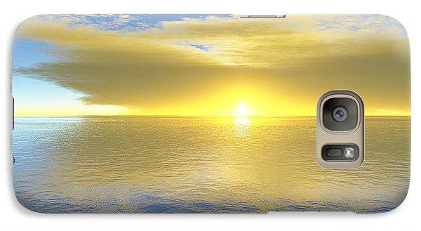 Galaxy Case featuring the digital art Gold Coast by Mark Greenberg