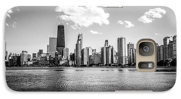 Gold Coast Skyline In Chicago Black And White Picture Galaxy S7 Case