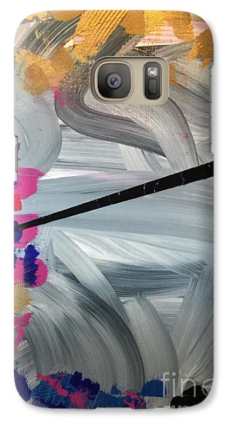 Galaxy Case featuring the painting Gold Foil Worth by Theresa Kennedy DuPay