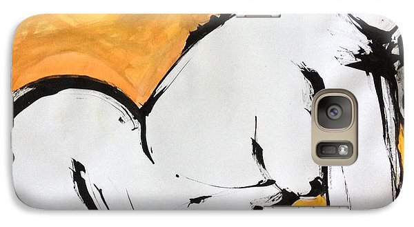 Galaxy Case featuring the drawing Gold by Helen Syron