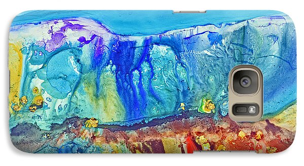 Galaxy Case featuring the painting Gold In The Hills by Joan Hartenstein