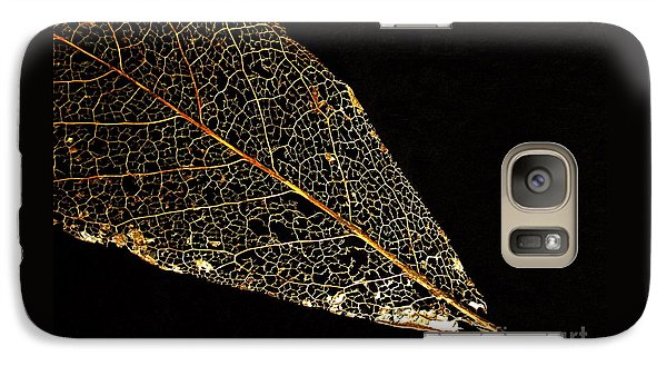 Galaxy Case featuring the photograph Gold Leaf by Ann Horn