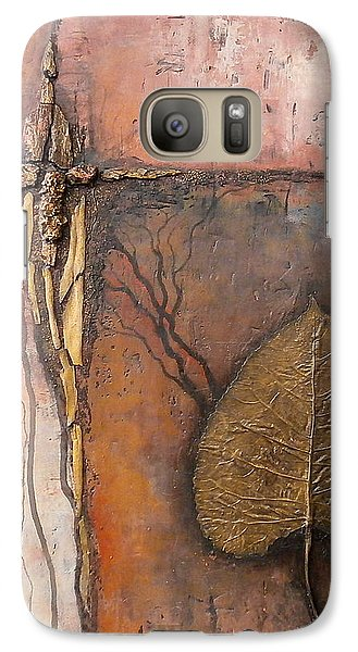Galaxy Case featuring the painting Gold Leaf by Buck Buchheister