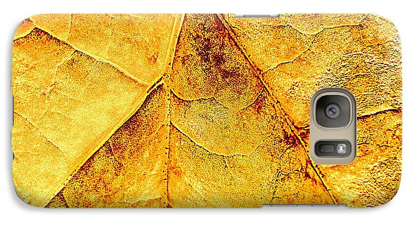 Galaxy Case featuring the photograph Gold Leaf by Kathy Bassett