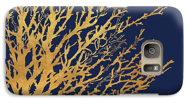 Gold Medley On Navy Galaxy S7 Case by Lanie Loreth
