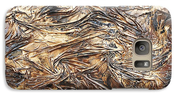 Galaxy Case featuring the mixed media Gold Mining by Angela Stout